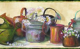 Dame Green Cottage Garden Portrait Wallpaper Border Chesapeake BBC44541B - $20.99
