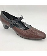 Vintage 1960s Paradise Kittens Brown and Black Reptile Look Heels size 8... - $18.95