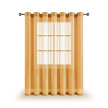 """MEMIAS Extra Wide 1 Window Sheer Curtain with Grommets, 104"""" W x 84"""" L, ... - $14.61"""