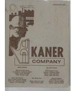 Kaner Company - Catalog 105 - HC - 1983 - Jaqua-McKee Inc. - $4.89
