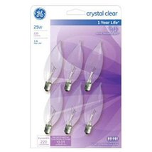 G E Lighting 75223 GE 25W Candle Bulb (6 Pack) - $11.11