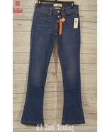 Dittos Arianna 70's Blues Mid Rise Button Frt Skinny Flare Denim Size 27... - $16.69