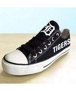 Detroit Tigers shoes womens tigers sneakers baseball fans fashion canvas... - $59.99+