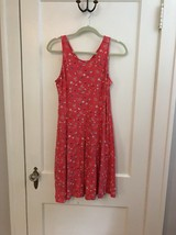 OLD NAVY Tank Dress Floral Coral Sleeveless Girls Size XXL 16 - $10.88
