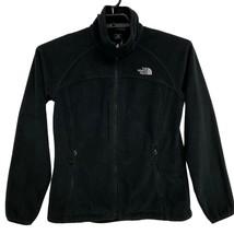 Women THE NORTH FACE Fleece BLACK Zip Up Jacket Size M - $29.60