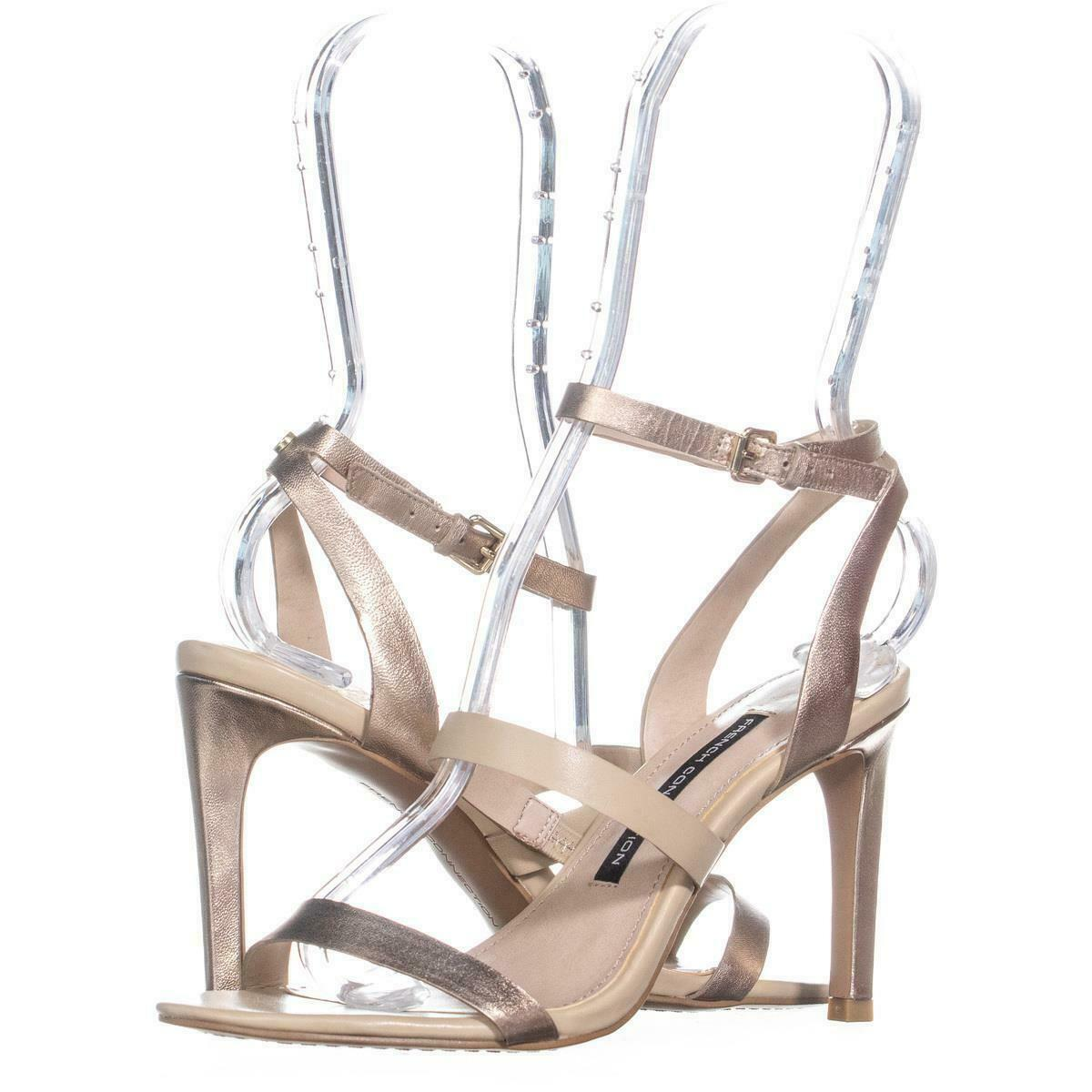 Primary image for French Connection Ankle Strap Sandals 543, Sand Gold, 6 US / 36 EU
