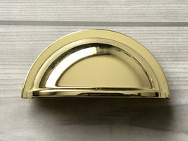 "3"" Bin Drawer Pulls Cabinet Pull Handle Dresser  Handles Cup Polished Go... - $7.00"