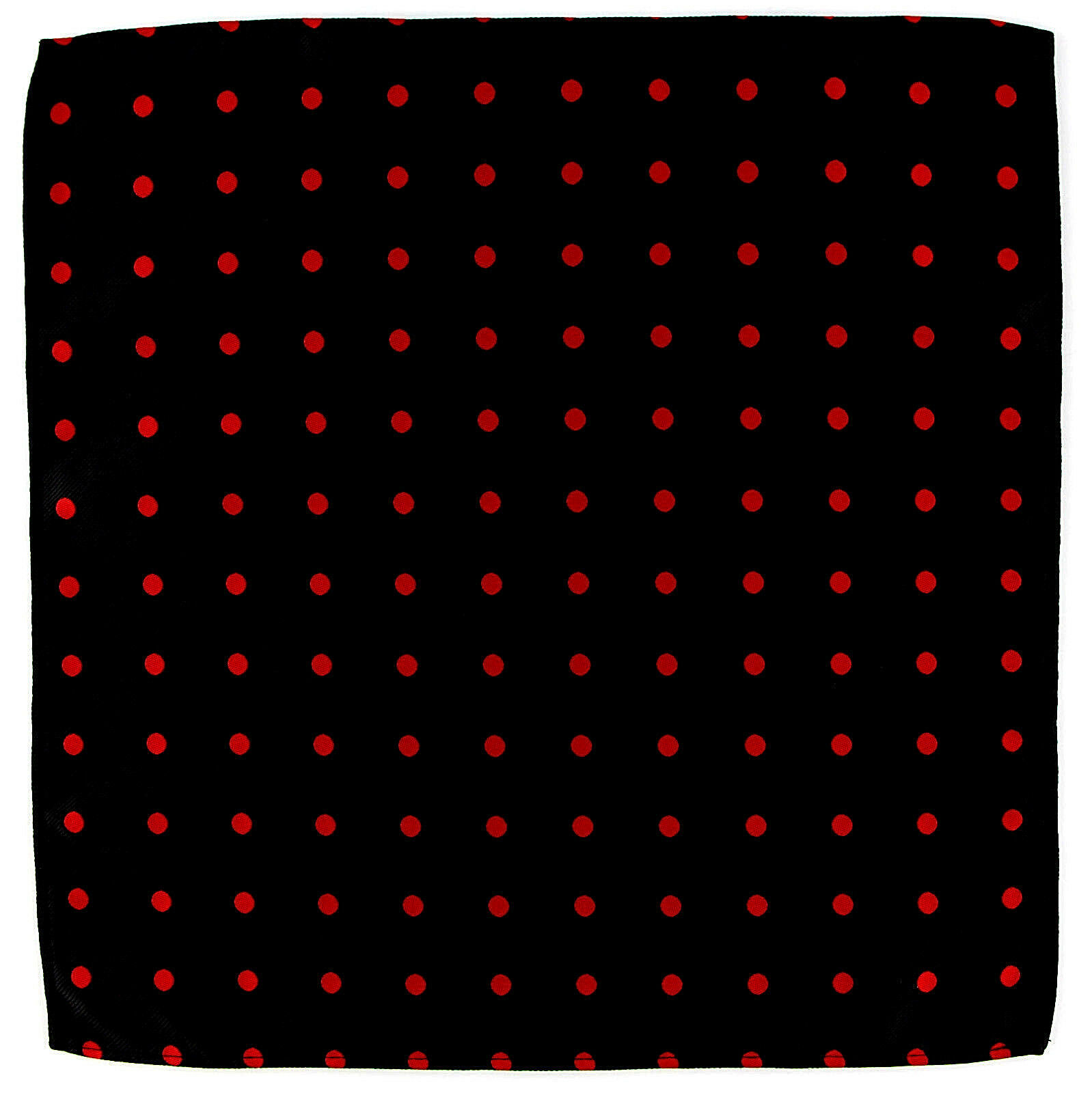 "Men's Pocket Square Black Red Polka Dot 10"" Dress Suit Handkerchief Hanky New"