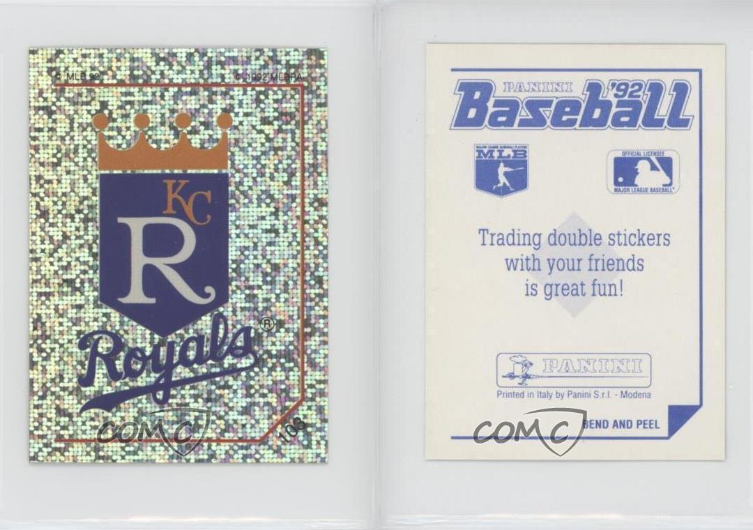 Primary image for 1992 Panini Baseball Album Stickers #103 Kansas City Royals ( 2 x 3 )