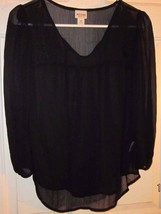 Women's Tops & Blouses Mossimo Supply Co Black Shear Shirt SIZE S/P MSRP $19.99 - $2.27