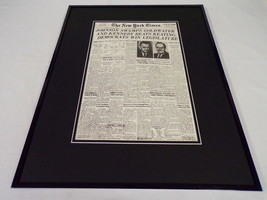 New York Times Nov 4 1964 Framed 16x20 Front Page Poster LBJ Elected - $79.19
