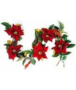 CraftMore Poinsettia Pine Garland 6' - $120.98