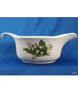 Crown Potteries Co Lily of the Valley Gravy Boat Off White Ceramic Green... - $17.15