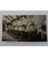 Glendale California Interior Little Church of Flowers 1930s Real Photo P... - $12.86