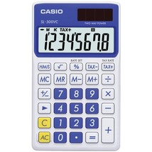 CASIO SL300VCBESIH Solar Wallet Calculator with 8-Digit Display (Blue) - $23.03