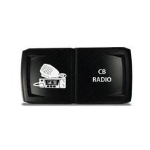 CH4x4 Rocker Switch V2 CB Radio Symbol - Horizontal - Blue LED - $16.44