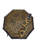 NEW! COACH Umbrella F54928-Leopard Print/Black - $118.68