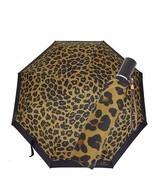 NEW! COACH Umbrella F54928-Leopard Print/Black - $118.68