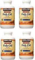 Kirkland Signature Fish Oil 1000 mg 400 Softgels USA FREE SHIPPING  PACK... - $62.99