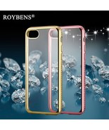 Roybens® 3D Diamond Rug Bumpers + Transparent Clear Case For IPhone 7 / 7 - $5.27
