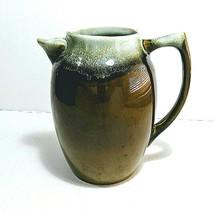 Pfaltzgraff Copper Green Drip Pottery Stoneware Pitcher 303 No Lid USA 7 cup - $23.95