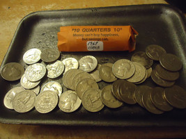 1967 WASHINGTON QUARTER ROLL    **CIRCS**        COMBINED SHIPPING - $15.49