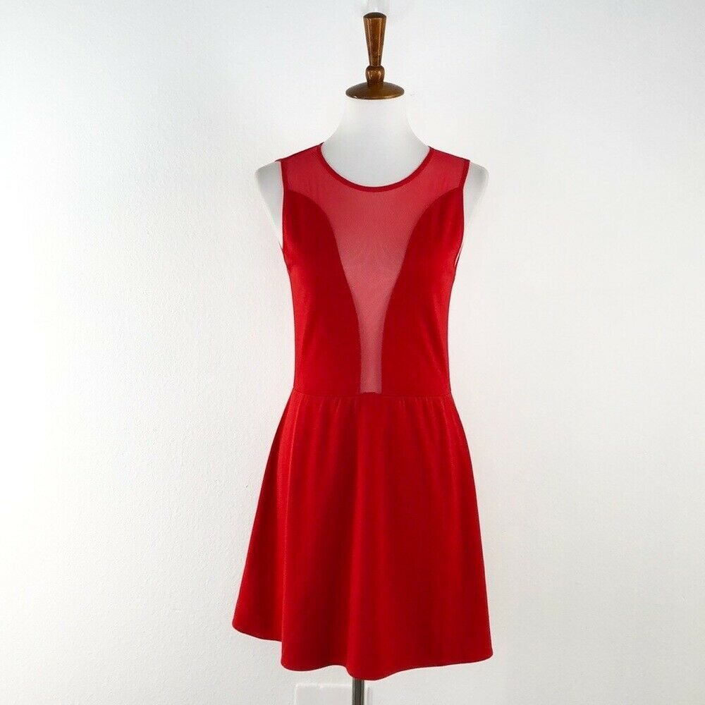 Primary image for Women's For Love & Lemons Red Sleeveless Fit & Flare Dress sz M