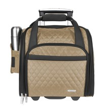 """Wheeled 14"""" Underseat Carry-On Suitcase Travel With Back-Up Bag Luggage ... - $140.77"""