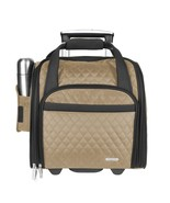 "Wheeled 14"" Underseat Carry-On Suitcase Travel With Back-Up Bag Luggage ... - $140.77"