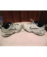Nike Air Monarch Mens Sz 9 US Walking Running Athletic White Leather Shoes - $36.63