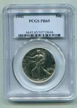 1941 WALKING LIBERTY HALF PCGS PR65 WHITE COIN NICE ORIGINAL COIN BOBS C... - $495.00