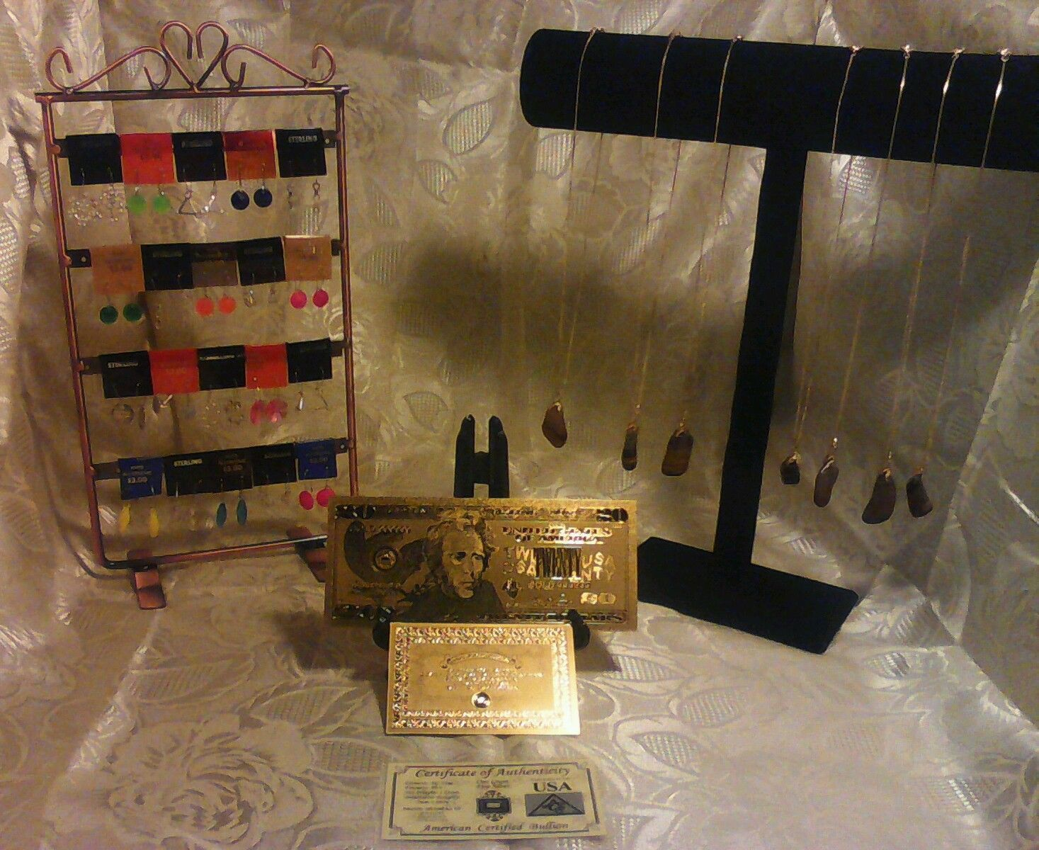 Primary image for COLLECTION of GENUINE HUGE TIGER Eye GEMSTONE Necklace Kits+ GOLD$20 W/COA &MORE