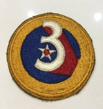 Original Wwii Usaaf U.S. Army 3rd Air Force Cut Edge Full Color Patch No Glow - $8.59