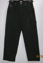 TOMMY HILFIGER VINTAGE MEN'S CARPENTER FIT BLACK JEANS MEN'S W31 L34 100... - $53.83