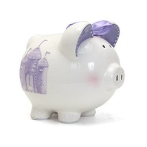 Child to Cherish Ceramic Piggy Bank for Girls, Fairytale Lavender - $24.59