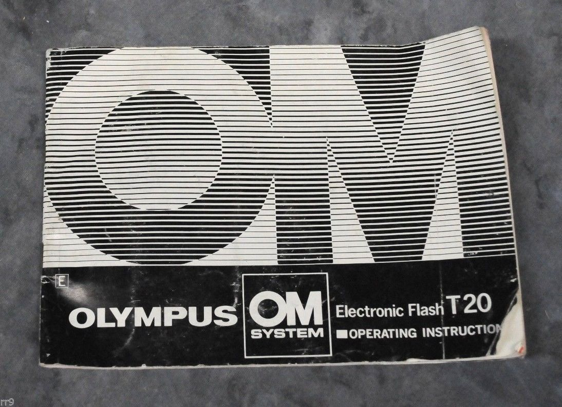 Primary image for OLYMPUS T20 Electronic Flash Instruction Manual