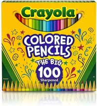 Crayola Different Colored Pencils, 100 Count - New / Sealed - $22.29