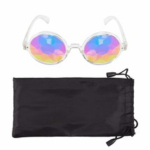 Kaleidoscope Glasses Crystal Glass Lenses Rainbow Prism Glasses with Pou... - $29.98