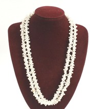 Vintage 38 Inch Faux Pearl Cluster Strand Multiple Looks - $6.79