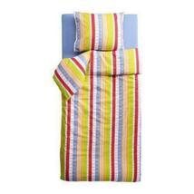 Ikea Barnslig Snurr Twin Duvet Cover & Standard Sham Bright Vertical Str... - $39.97