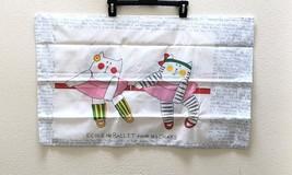 Vintage Pillowcases Pair NEW Standard No Iron 80s Ballet Cat Utica JP St... - $29.95