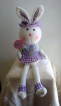 Sweet Bud Bunny Rabbit Shelf Sitter Doll Lilac Easter Baby Shower Nurser... - $19.95