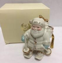 Lenox Christmas Tree Ornament Santa's Downhill Delivery 2001 Annual in Box - $24.74