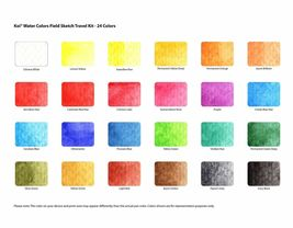 Sakura Koi Watercolor Paint Set with Brush, 12 18 24 30 Colors Sketch Drawing image 4