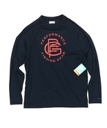 New Columbia Men's Deep Waves Hooks Long Sleeve Fishing Shirt Blue Red - $29.99
