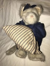"Boyds Plush MARISSA P PUSSYFOOT 912093 MWT 1999 14"" Cat Pillow Bow FREE ... - $29.69"