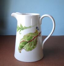 "Wedgwood CHELSEA GARDEN Pitcher Jug Vase 1.5 pt. 6.5"" H. New in Box - $29.99"