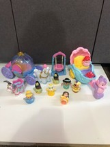 lot Fisher Price Little People Carriage Figures Cinderella Aladdin Jasmi... - $59.35