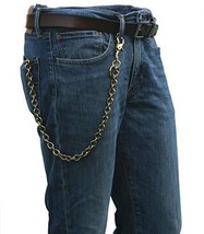 """Ruth&Boaz Solid Brass Ring Chain Keychain Wallet Chain 24.8"""", Retro Snap... - $27.48"""