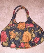 NEW Floral Women's Hobo Bag, Black/Green/Red/Rust Floral Print, Roomy In... - $29.99